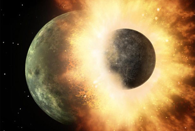 Giant Impact That Formed the Moon Blew Off Earth's Atmosphere