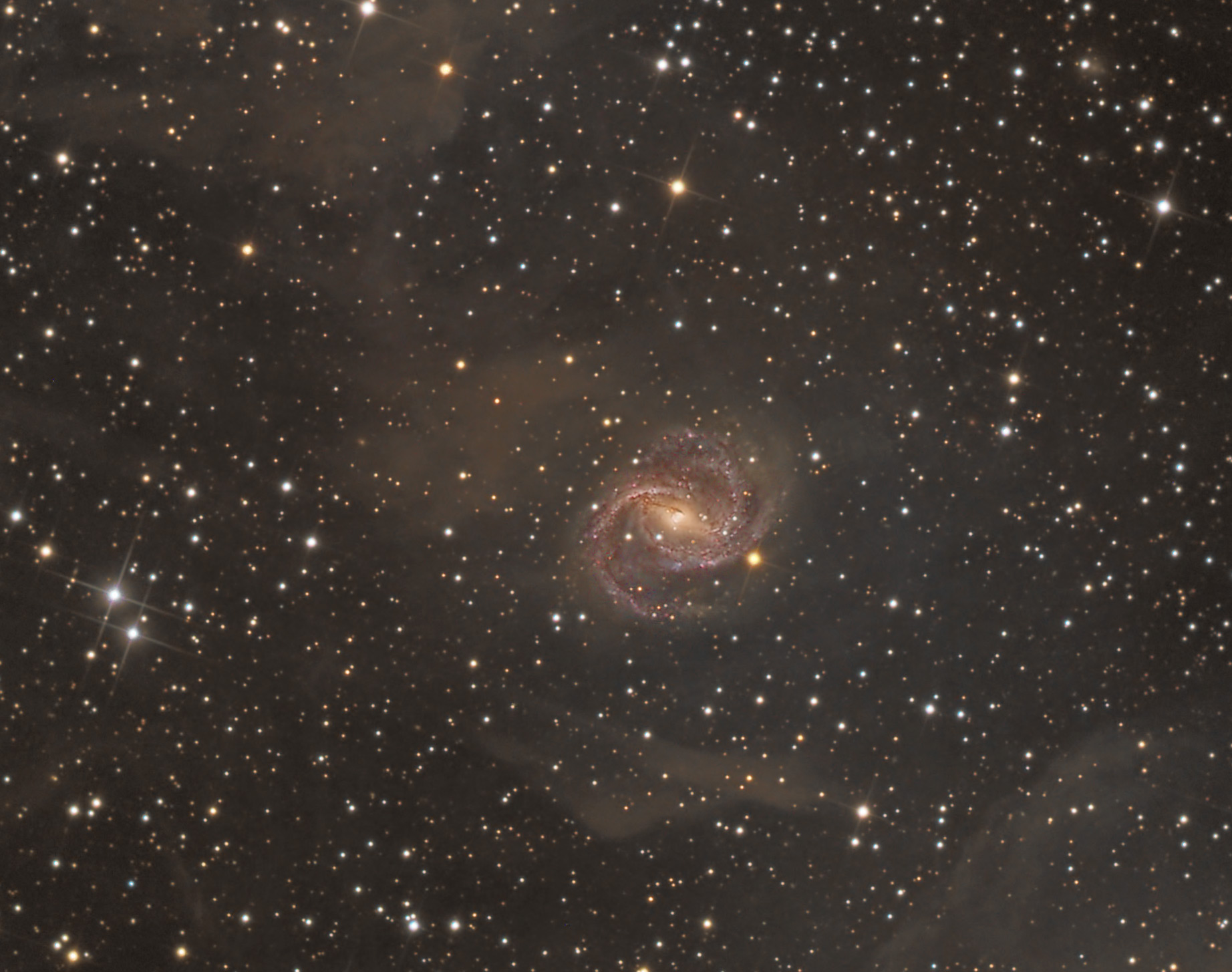 Spiral Galaxy Shakes Off Cosmic Dust in Photo