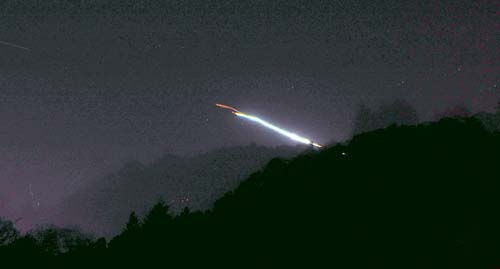 Spectacular Meteor Sparks Fireball Over California