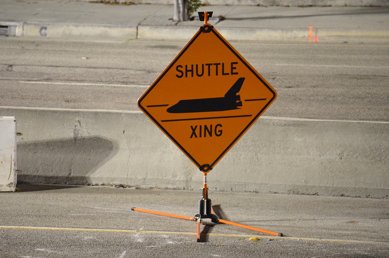 Endeavour's 'Shuttle Xing' Signs on Sale as 'Mission 26' Memento