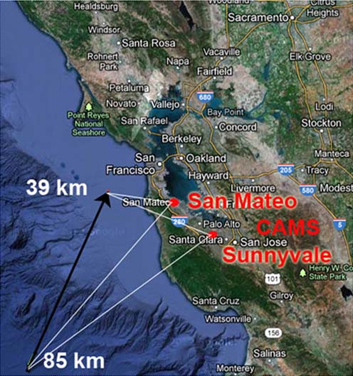 Meteor Fireball Trajectory: Oct. 17, 2012