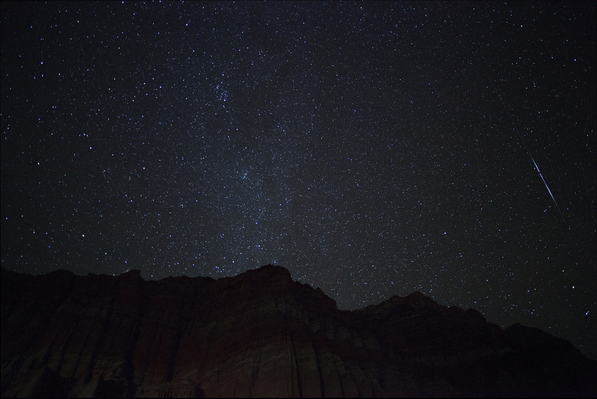2012 Orionid Meteors Over Red Canyon State Park, CA
