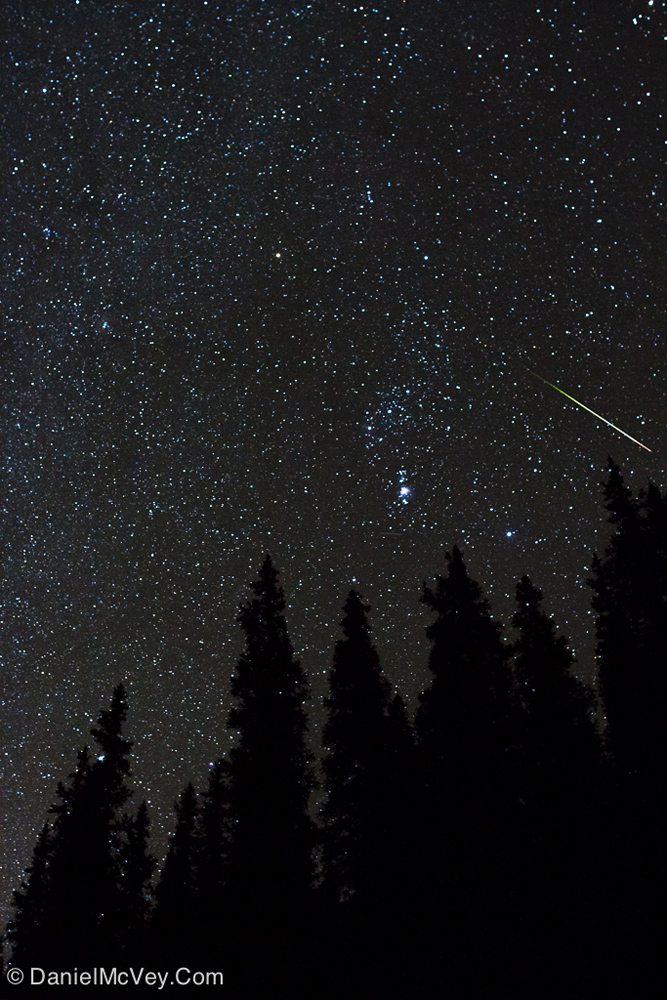 Orionid Meteor Over Summit County, CO