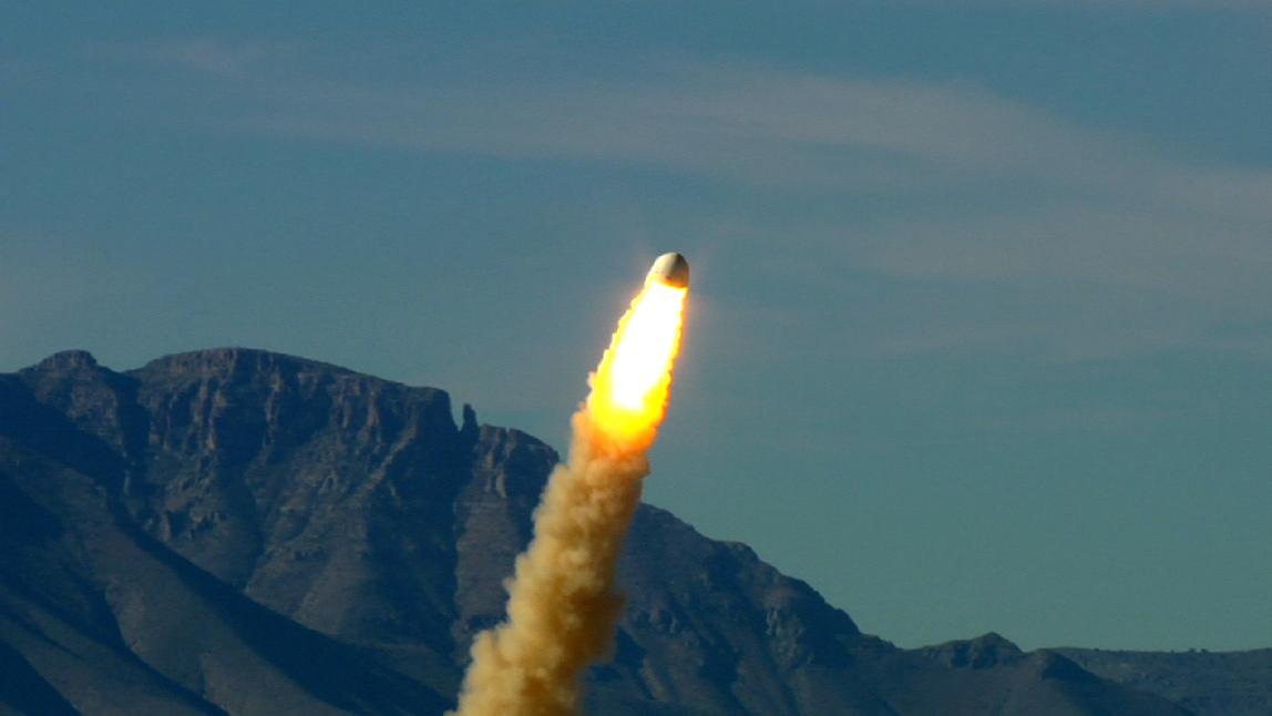 Jeff Bezos' Secretive Spaceship Project Tests Rocket Escape System