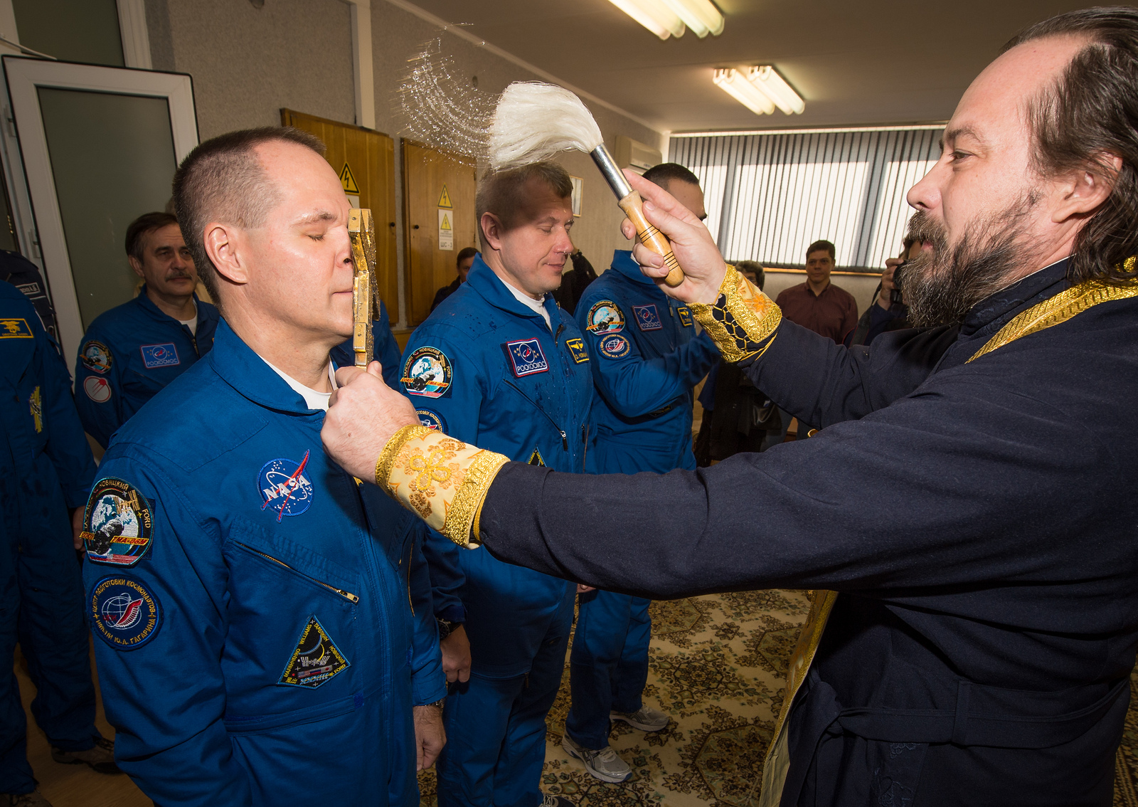 Expedition 33/34 Soyuz Crew Blessing