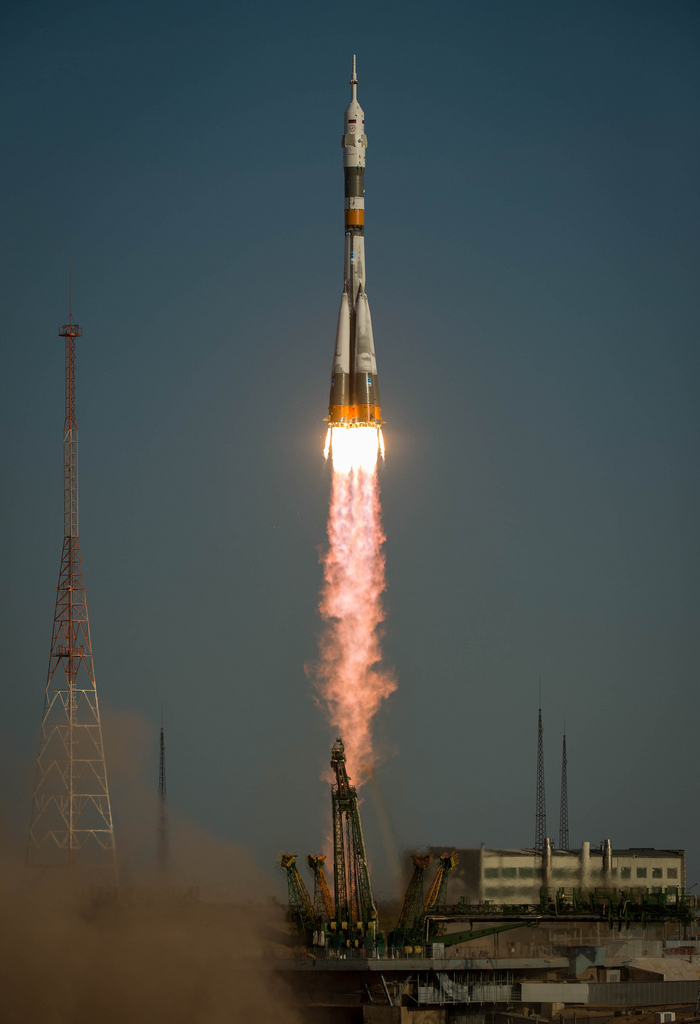 Soyuz Spacecraft Launches New US-Russian Crew Toward Space Station