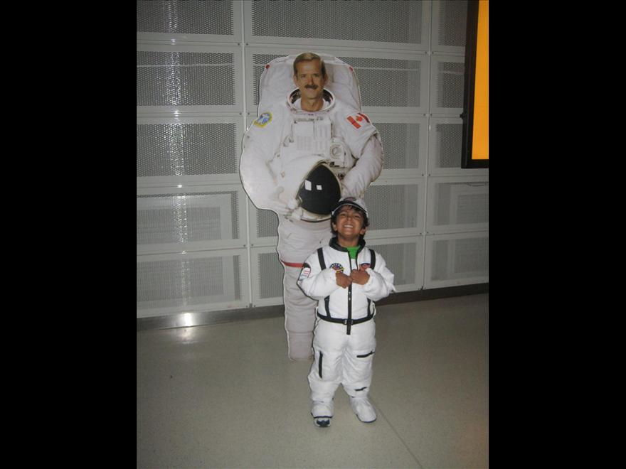 Chris Hadfield and Young Fan Gabriel