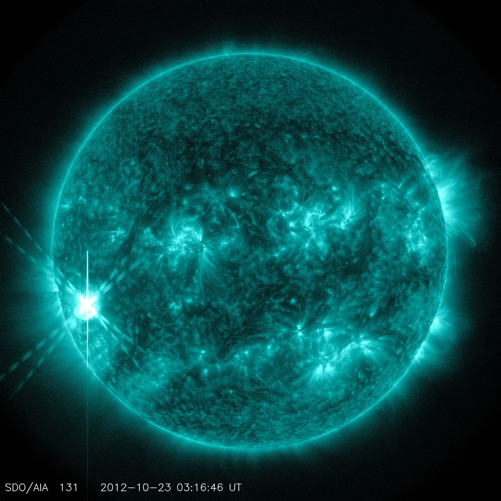 Amazing Solar Flare of Oct. 22, 2012 (Photos)