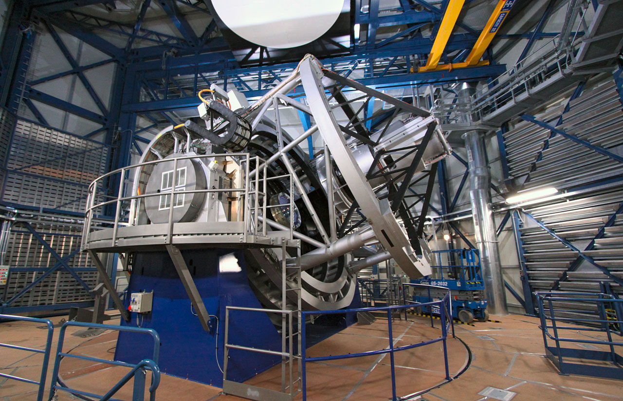 VISTA Telescope Inside Dome