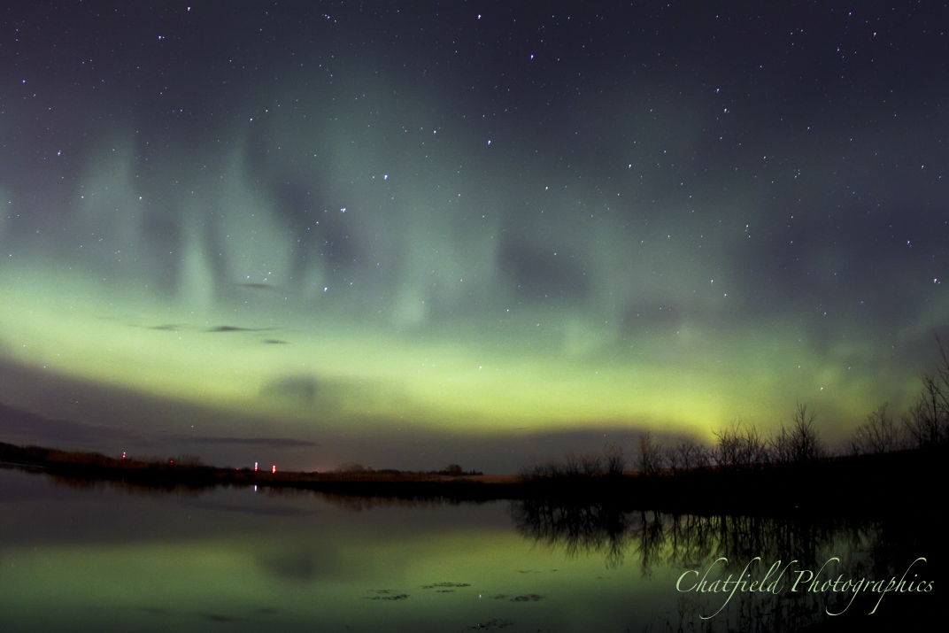 Aurora Outside Saskatoon