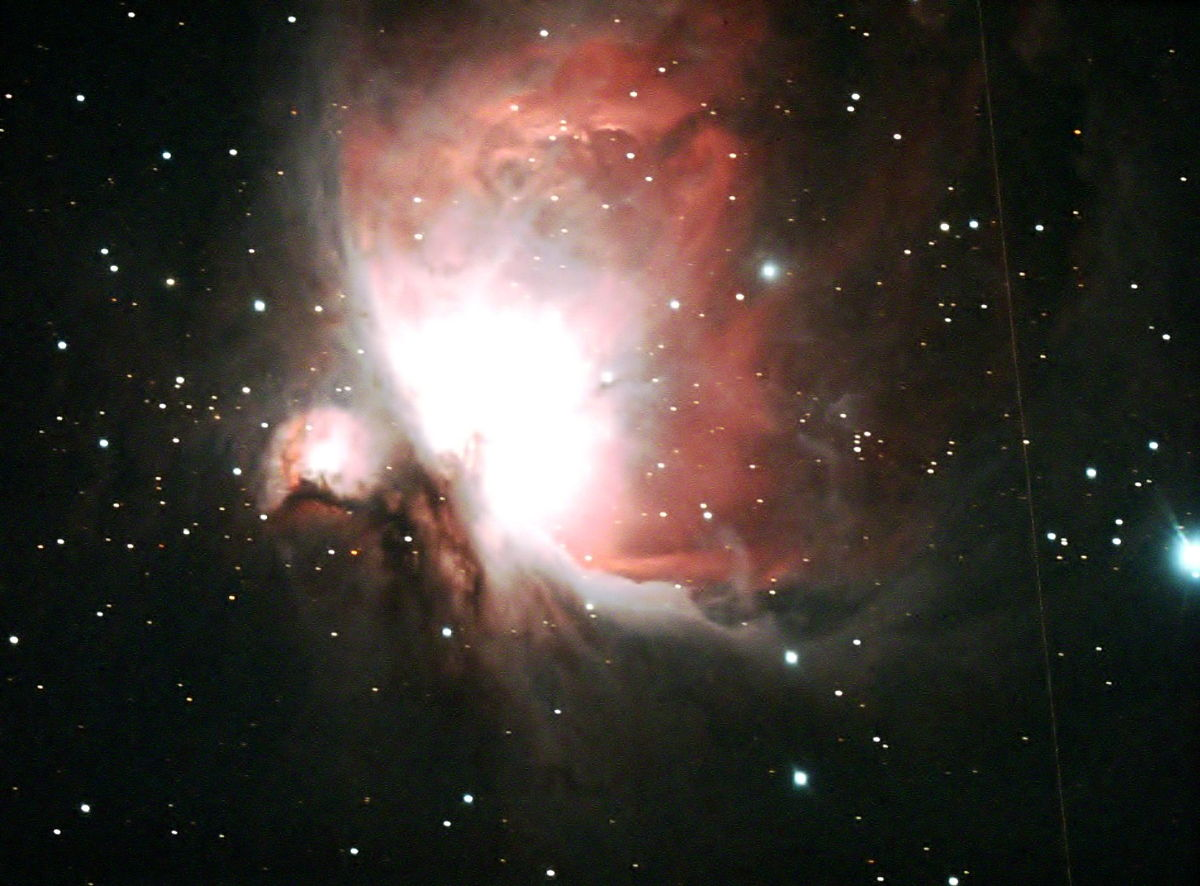 M42 With Orionid Meteor Trail in Alexandria, Virginia