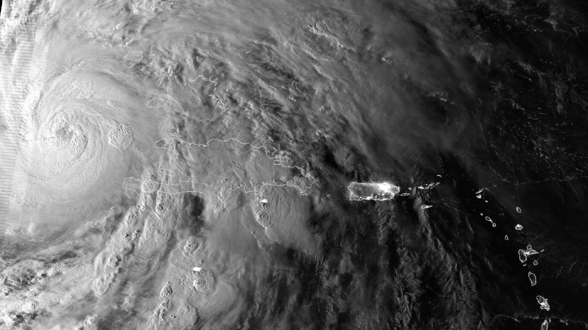 Hurricane Sandy over Puerto Rico and the Virgin Islands