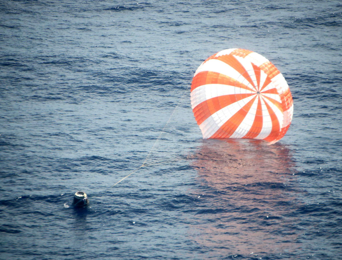 Dragon After Splashdown