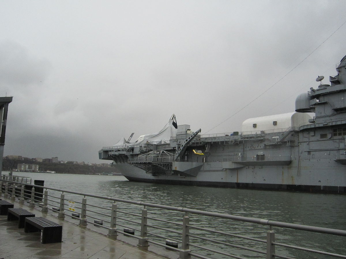 Space Shuttle Enterprise Damaged by Hurricane Sandy