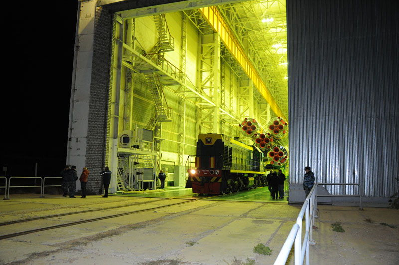 Soyuz Rollout Oct. 29, 2012
