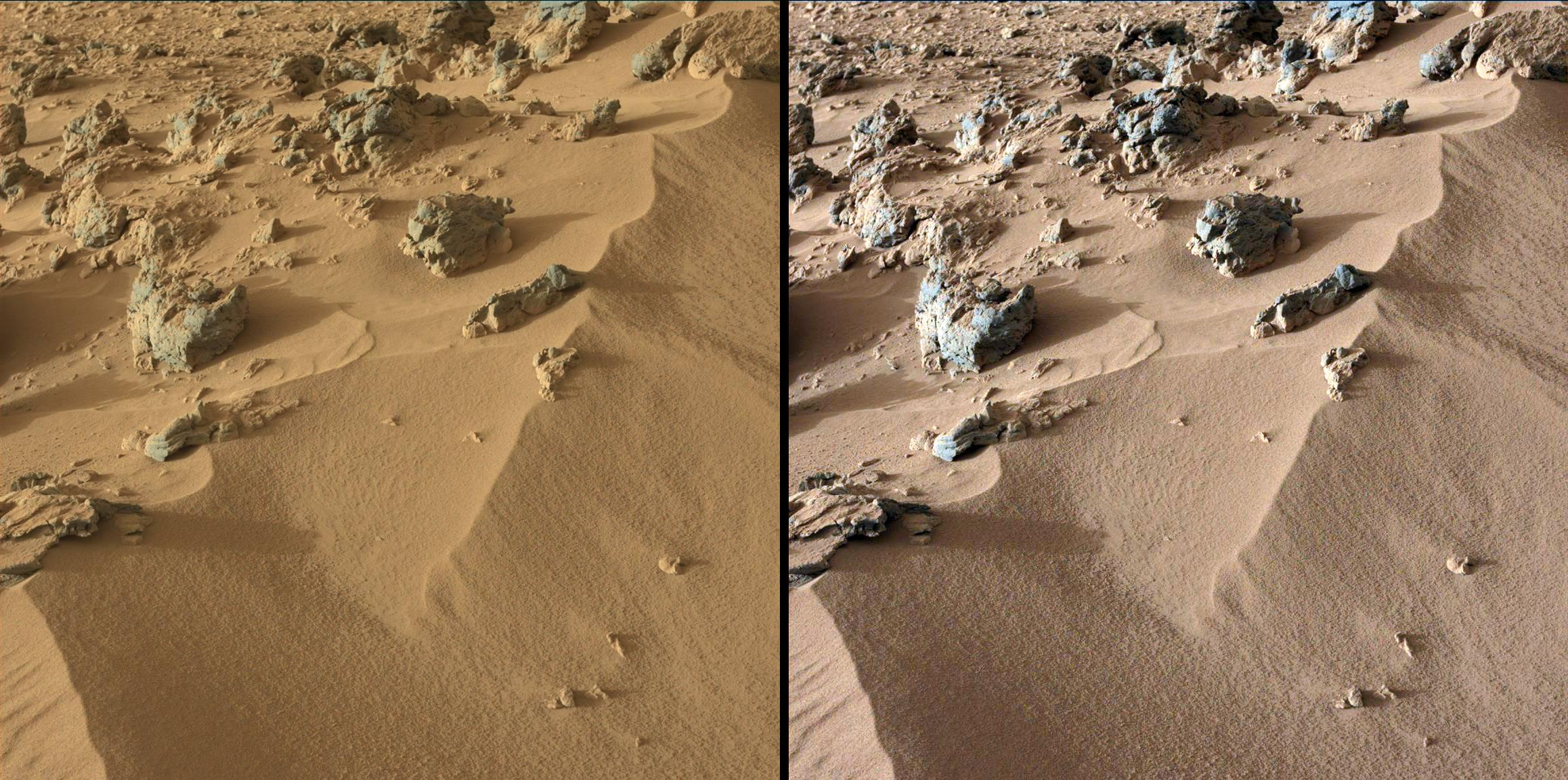 Curiosity Photos of 'Rocknest' Site