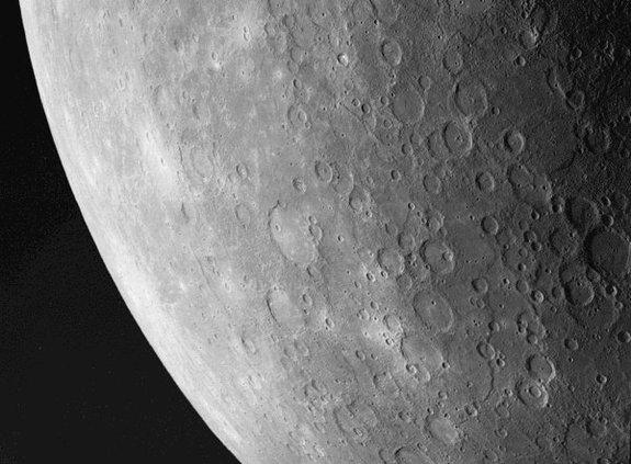 Mariner 10 took this photo of the southwest region of Mercury.