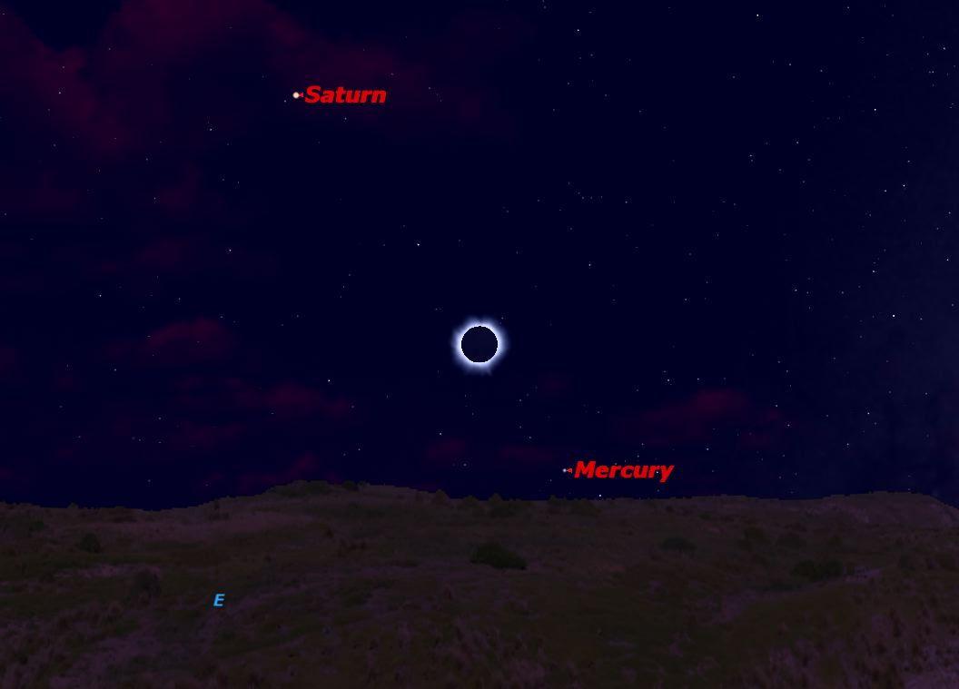 November 2012 Solar Eclipse Sky Map
