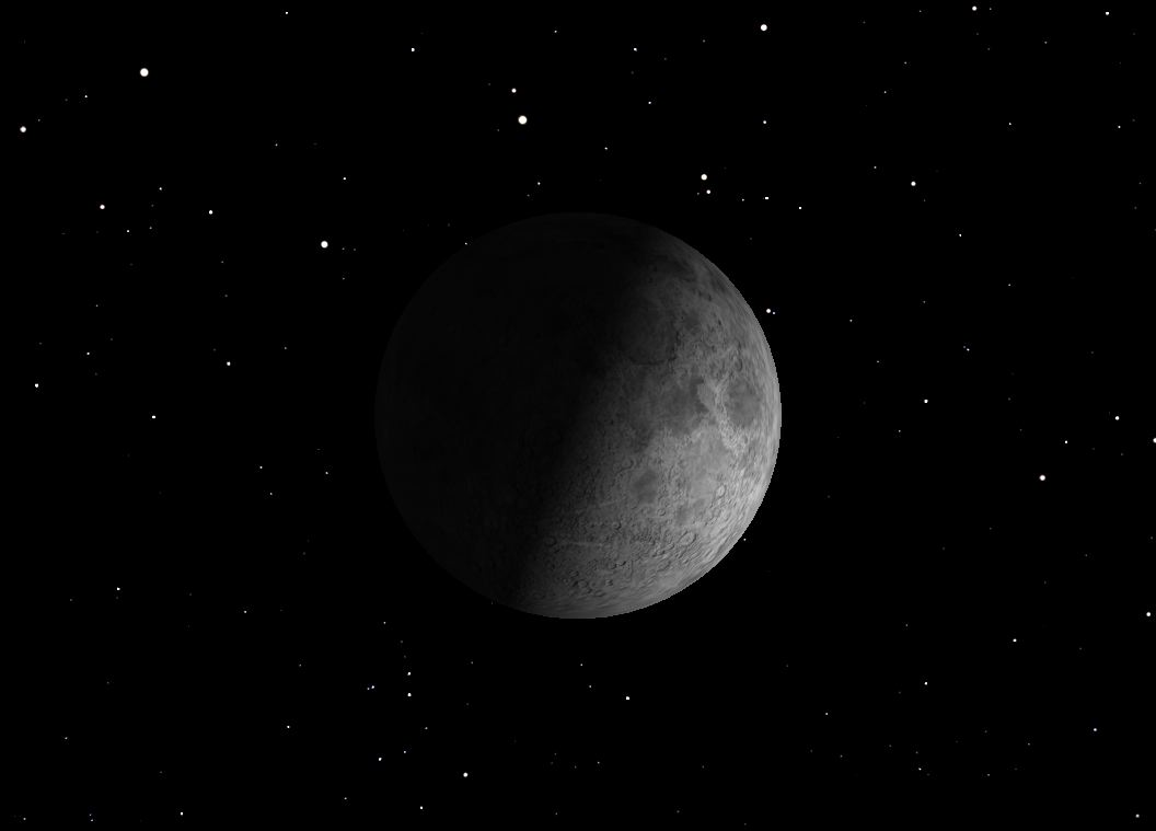 November 2012 First Quarter Moon Sky Map