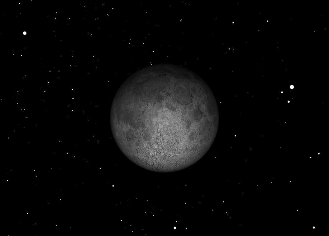 November 2012 Full Moon Sky Map