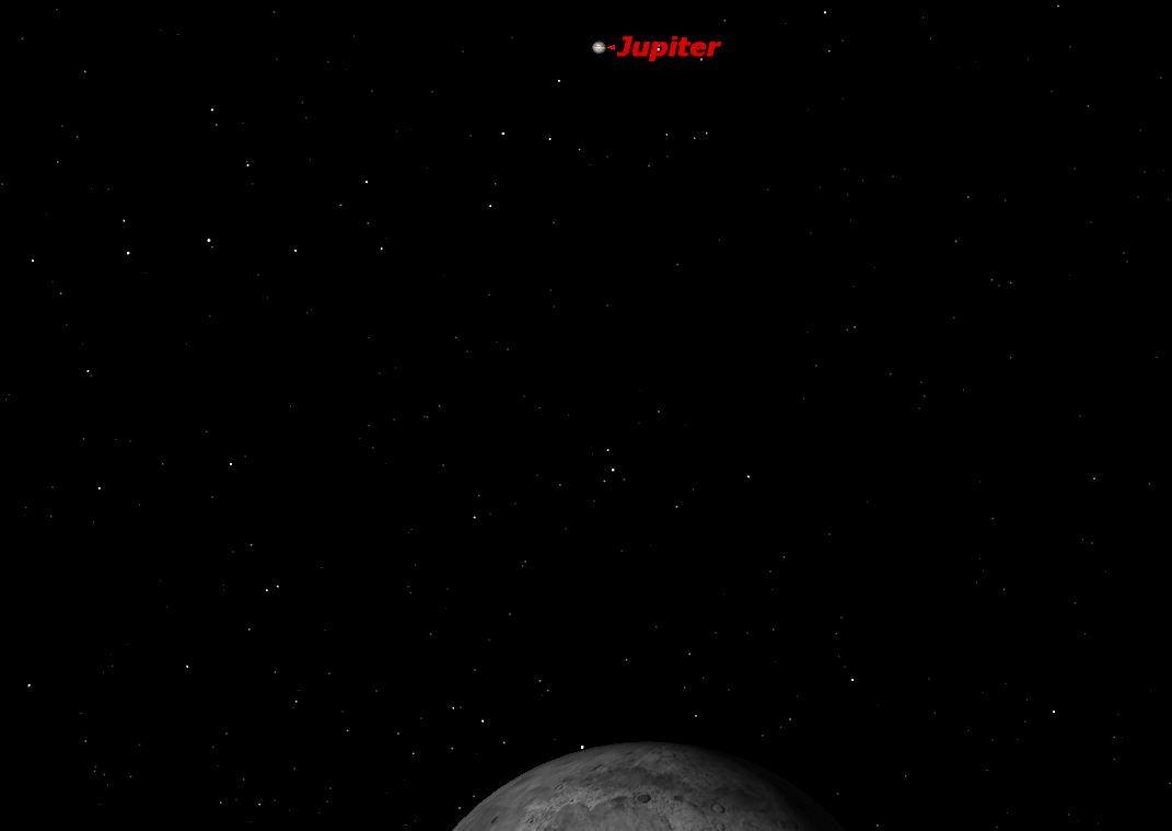 November 2012 Jupiter & Moon Sky Map