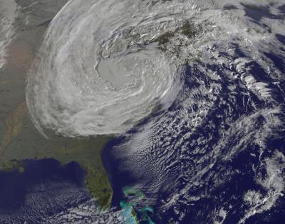 Frankenstorm Sandy Spotted Dying Out on Halloween