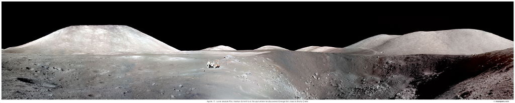 Harrison Schmidt and Lunar Rover During Apollo 17 Mission