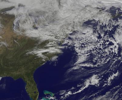 Sandy's Remnant Clouds Linger in New Space Photo