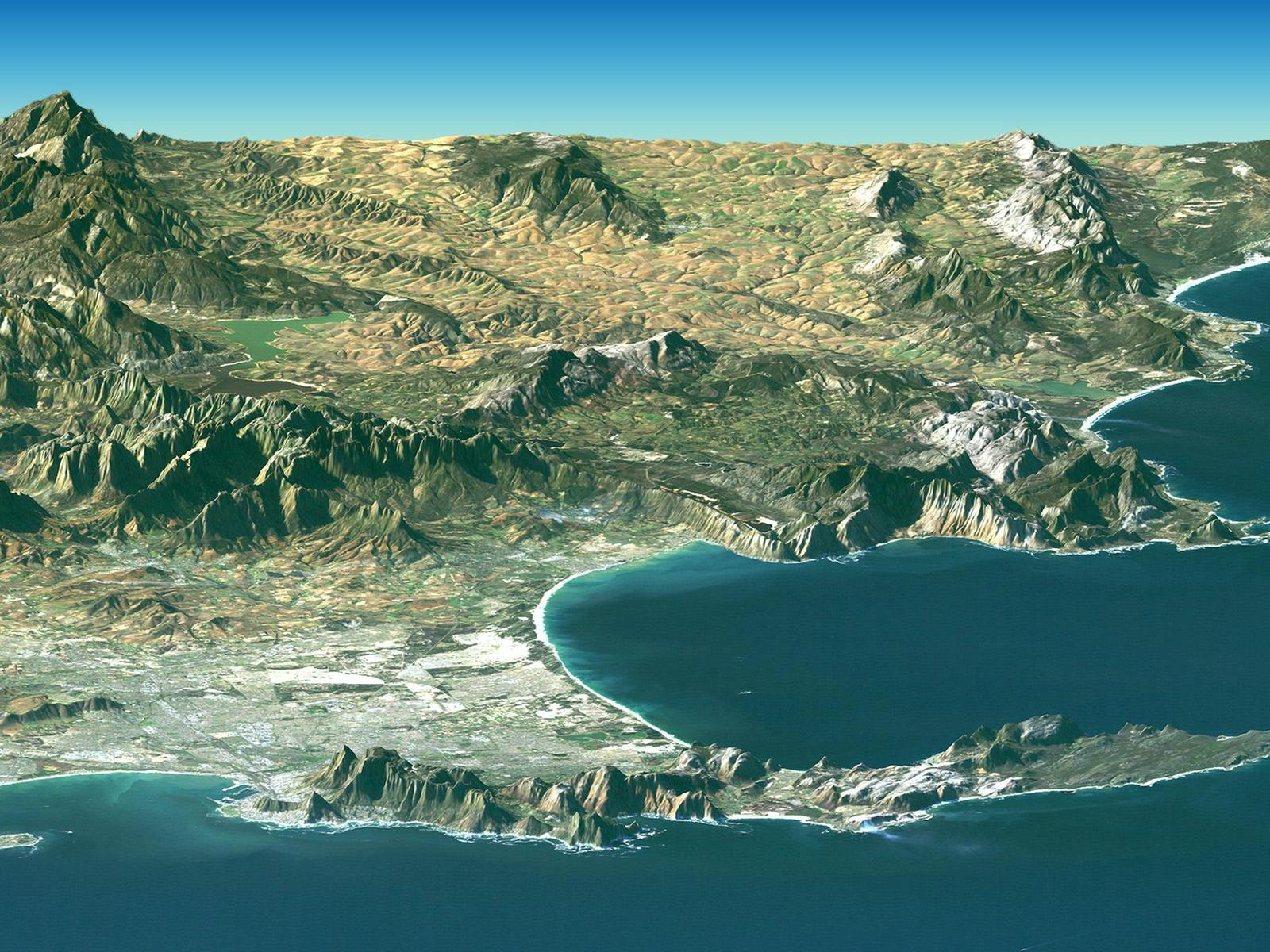 Landsat Image of Cape Town, South Africa