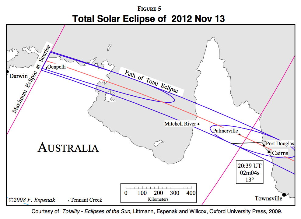 Total Solar Eclipse Over Australia on Nov 13, 2012