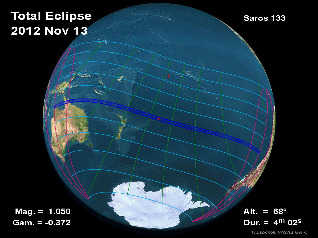 Global View of Total Eclipse Nov. 13, 2012