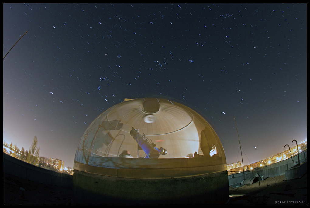 Star Trails Over Observatory Ladanyi
