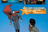 Superman visits the Hayden Planetarium at the American Museum of Natural History in an issue of Action Comics, cover date January 2013.
