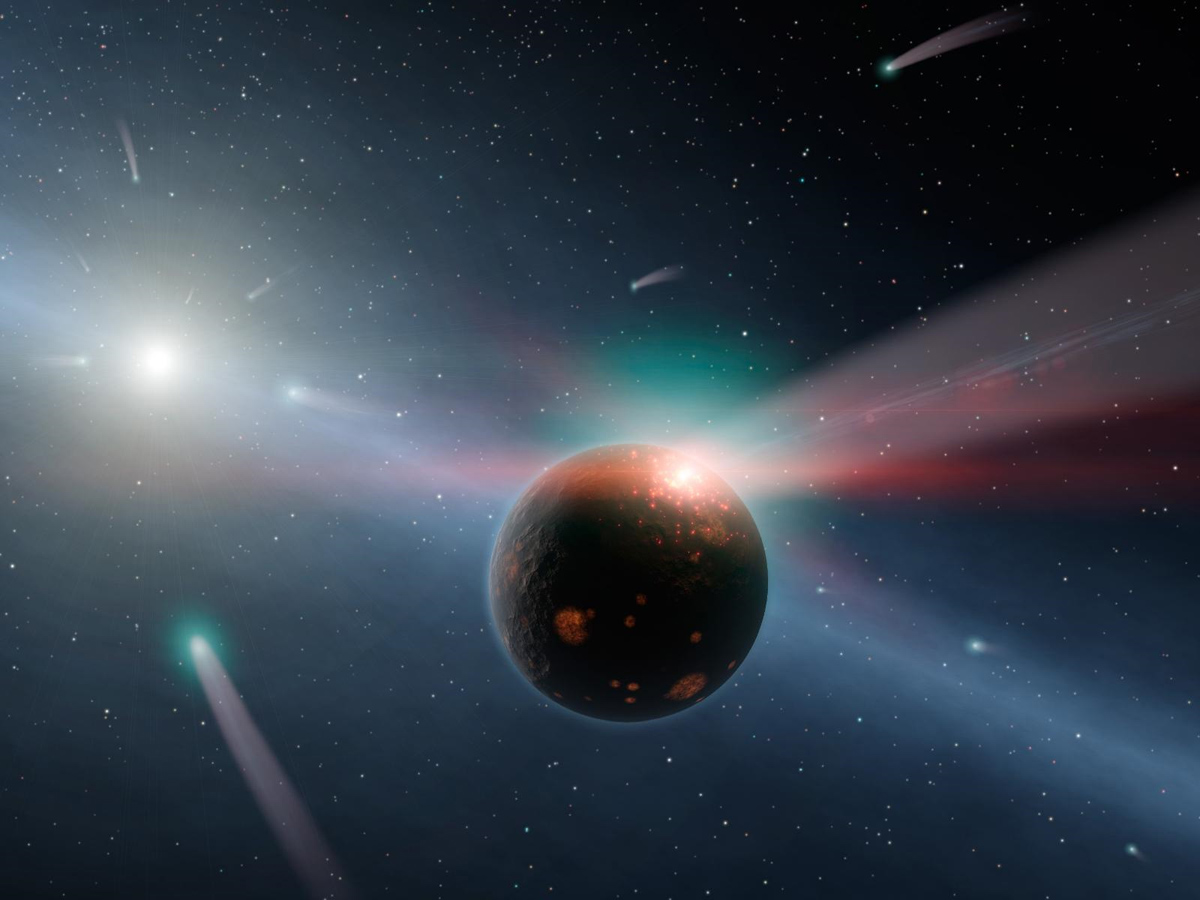 Comet Collisions Fuel Star's Oddly Young Look