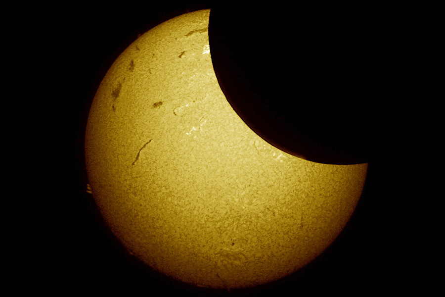 Solar Eclipse Photography: Hydrogen-Alpha View