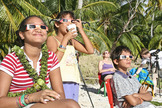 uring the July 11, 2010, total solar eclipse, veteran eclipse chasers Imelda Joson and Edwin Aguirre distributed eclipse glasses to residents of Tatakoto Atoll in French Polynesia so they could safely enjoy the celestial show.