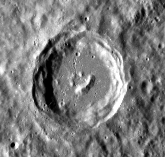 Happy Little Crater on Mercury