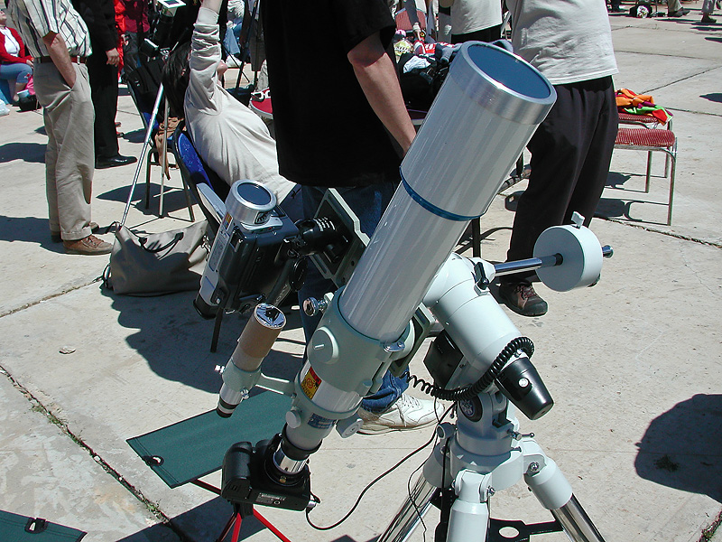 Total Solar Eclipse 2006: Telescope Setup