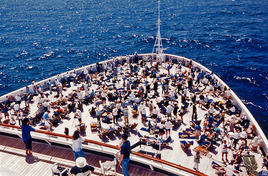 Solar Eclipse 1998: Caribbean Cruise Crowd