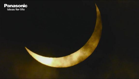 The sun approaches total eclipse in Australia on Nov. 13, 2012 (EST).