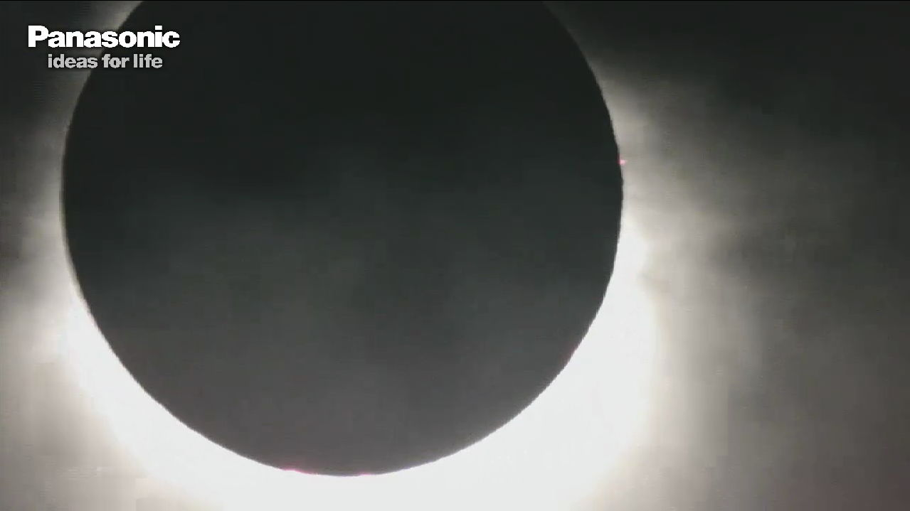 Solar Eclipse at Totality, Nov. 13, 2012 (EST)