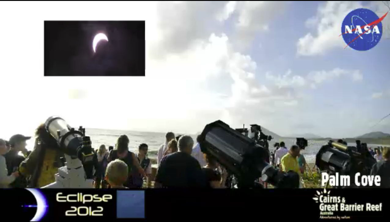 Observers in Australia View the Solar Eclipse, Nov. 13, 2012 (EST)