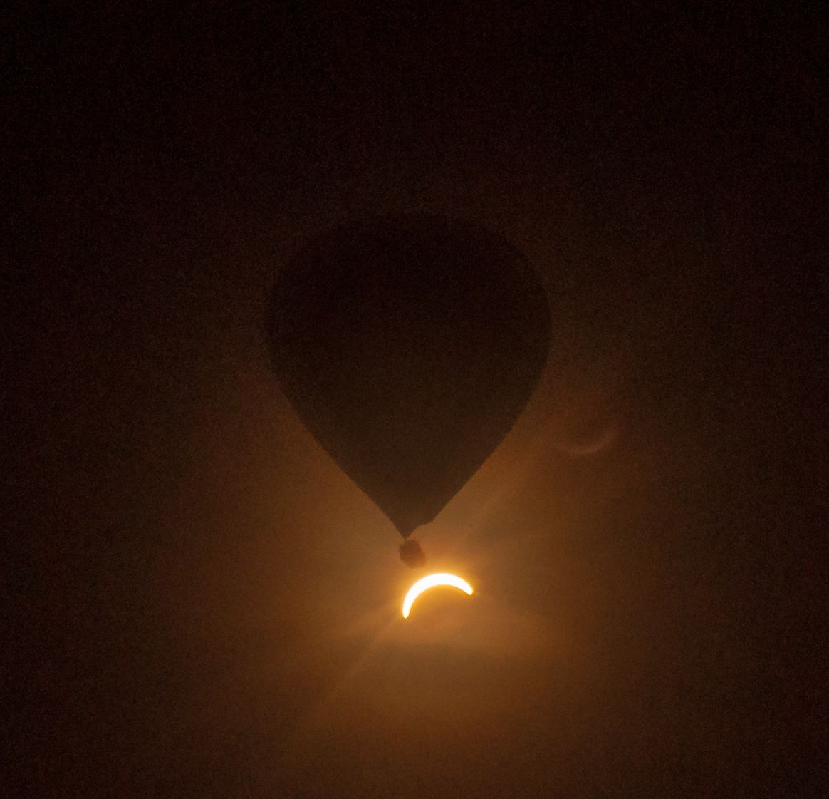Solar Eclipse From a Hot Air Balloon