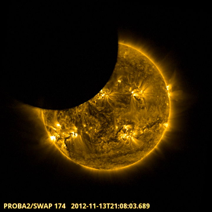 Proba-2 Sees Partial Solar Eclipse