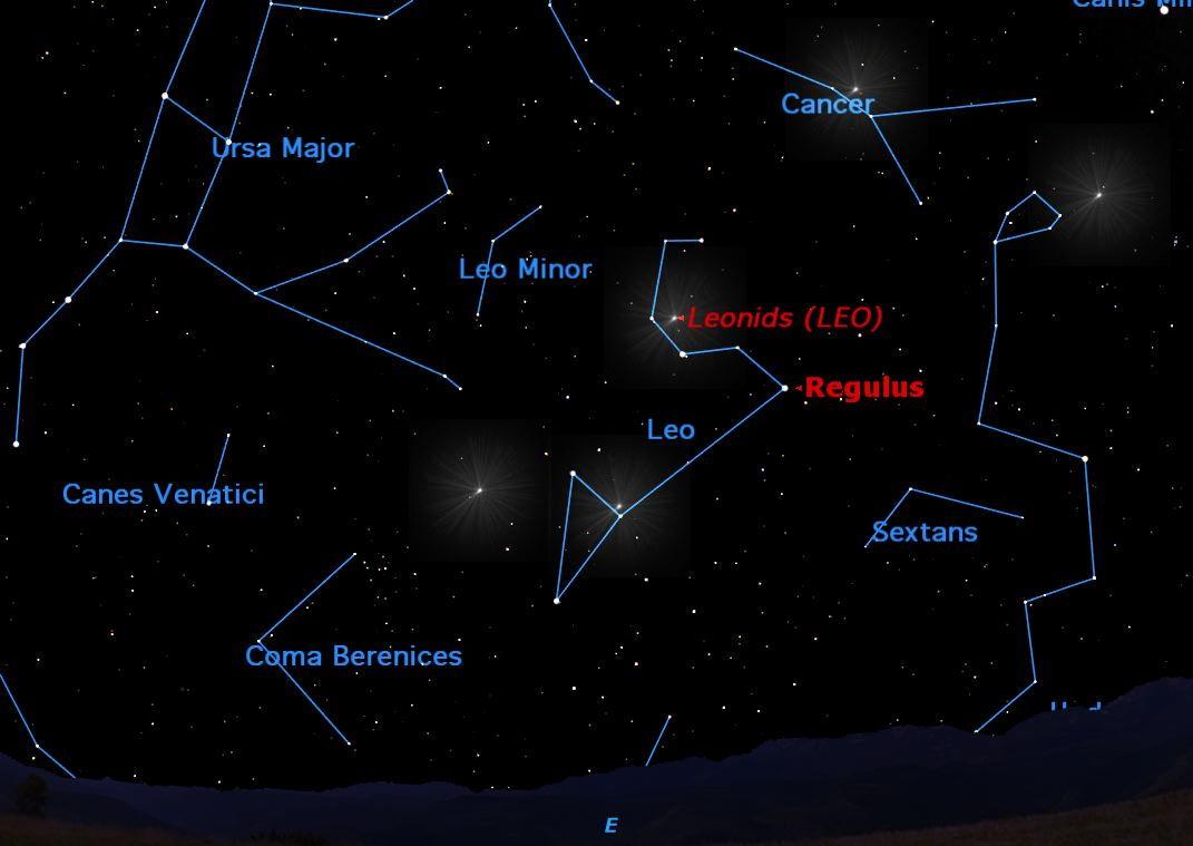 Leonid Meteor Shower 2012 Sky Map