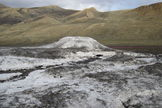 An Arctic spring site on Axel Heiberg Island in Canada's north. Scientists suggests similar active springs could be found on Mars.
