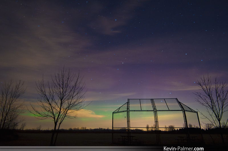 Aurora and Backstop in Brighton, WI