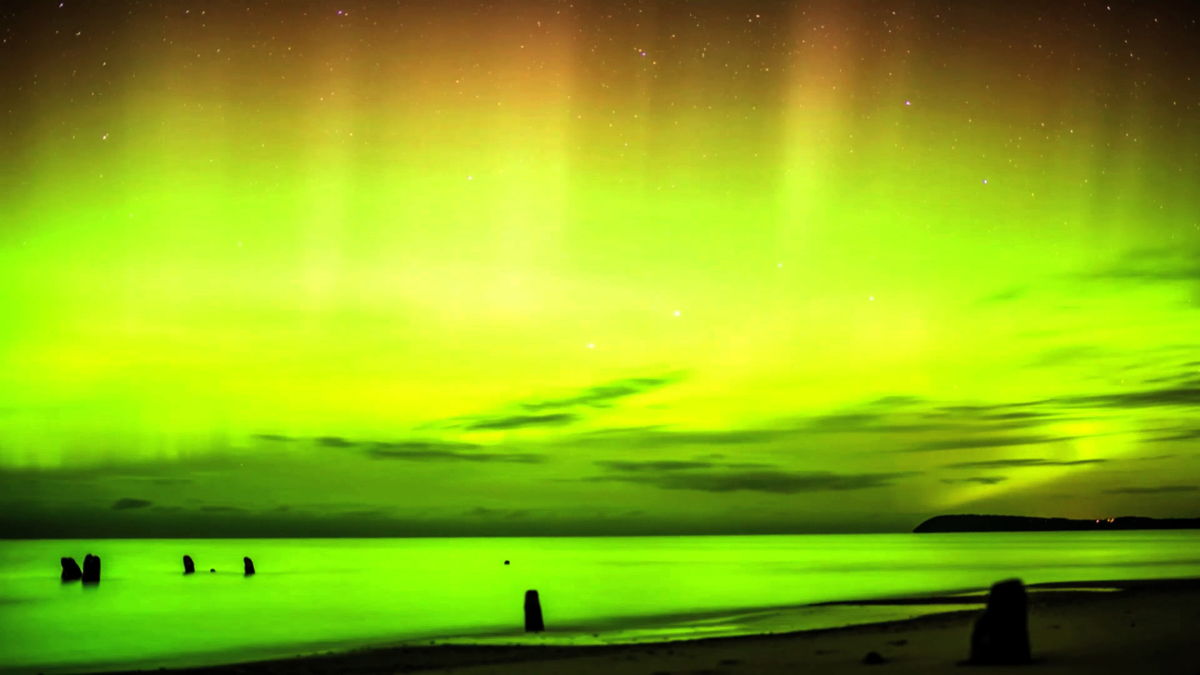Video Still of Northern Lights Over Leland, MI #3