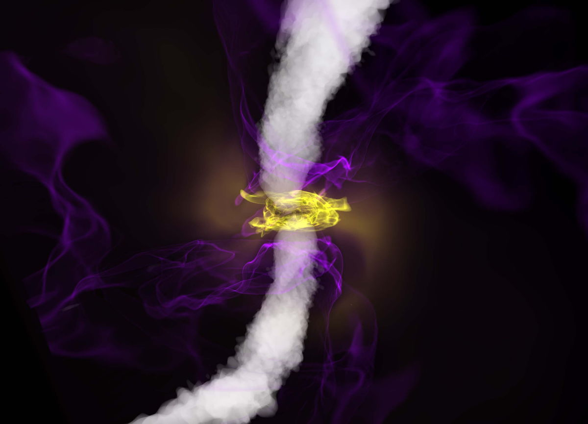 Spinning Black Hole Produces a Powerful Jet