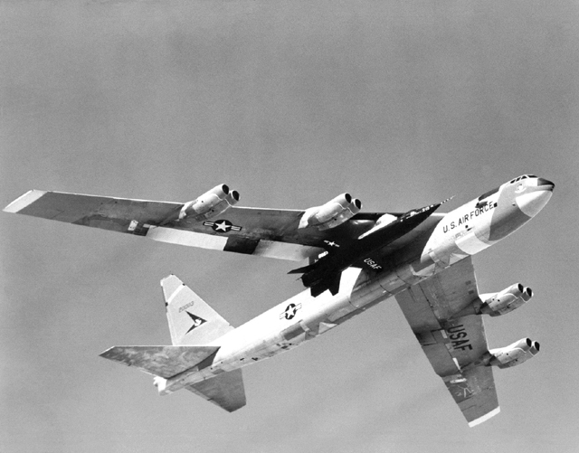 Space History Photo: X-15 Mated to B-52 Captive Flight